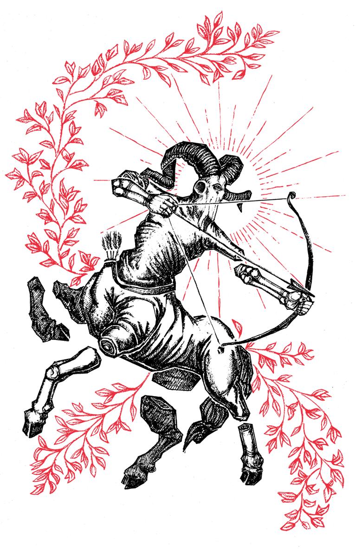 """Image of """"Sagittarius"""" 8.5""""x11"""" Watercolor Print"""