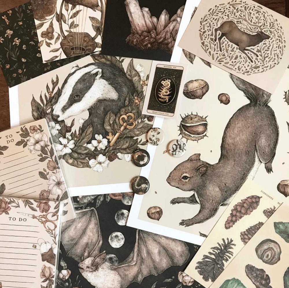 Image of Badger Print