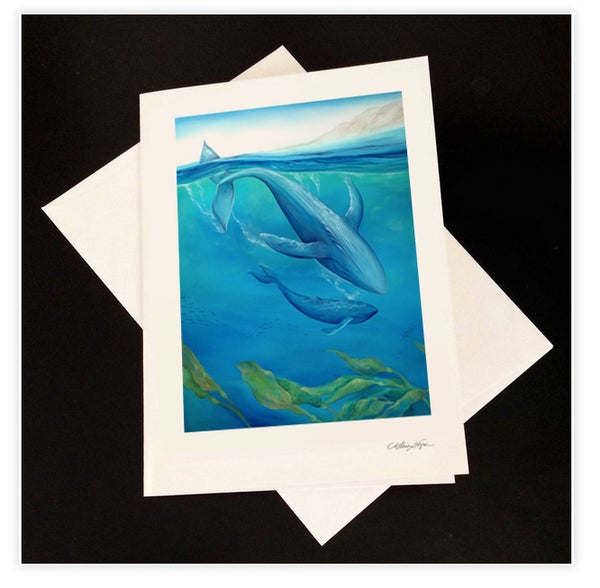 Image of Whales, 5-Pack Greeting Card Set