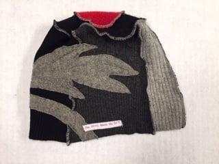 Image of Signature Pressed Poppy Hat (100% Repurposed Cashmere)