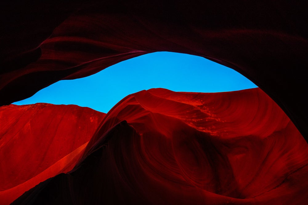 Image of Featured Landscape: ANTELOPE CANYON SKY ARCH, PAGE ARIZONA, NO. 3442
