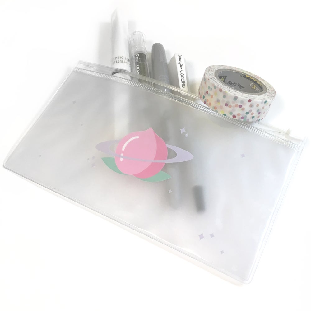 Image of planet peach | clear pouch