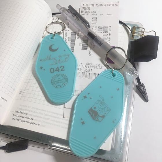 Image of milky way motel | acrylic keychain