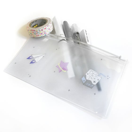 Image of milky galaxy | clear pouch