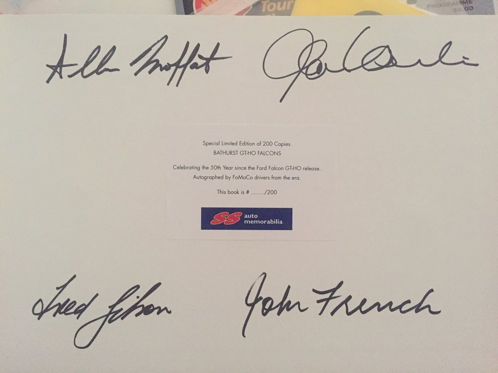 Image of 50th Anniversary - Multi Signed Bathurst GT-HO Falcons book