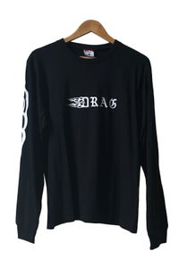 Image of DRAG TRIBAL LONG SLEEVE TEE <br> BLACK