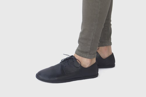 Image of Plain Toe Derby in Matte Black