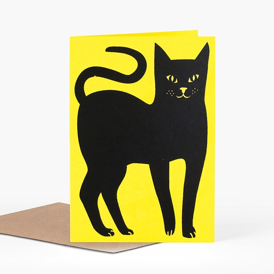Image of Lucky Black Cat Card