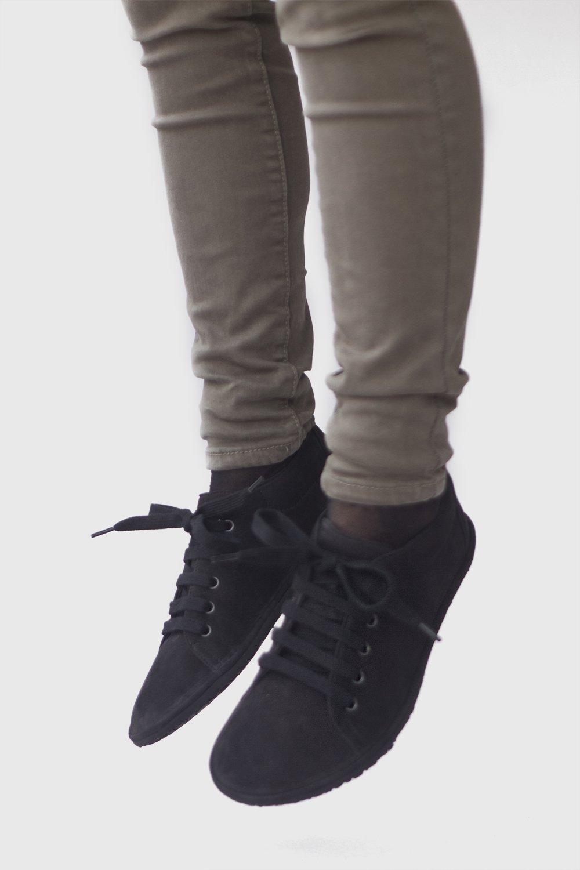 Barefoot sneakers in Black Nubuck   The