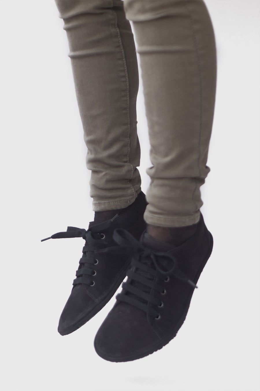 Image of Barefoot sneakers in Black Nubuck