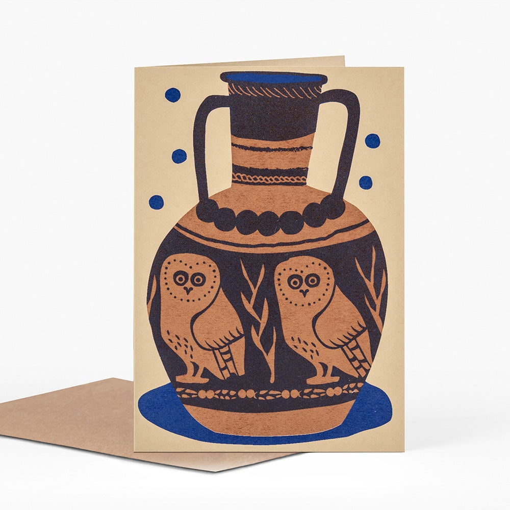 Image of Owl Pot Card