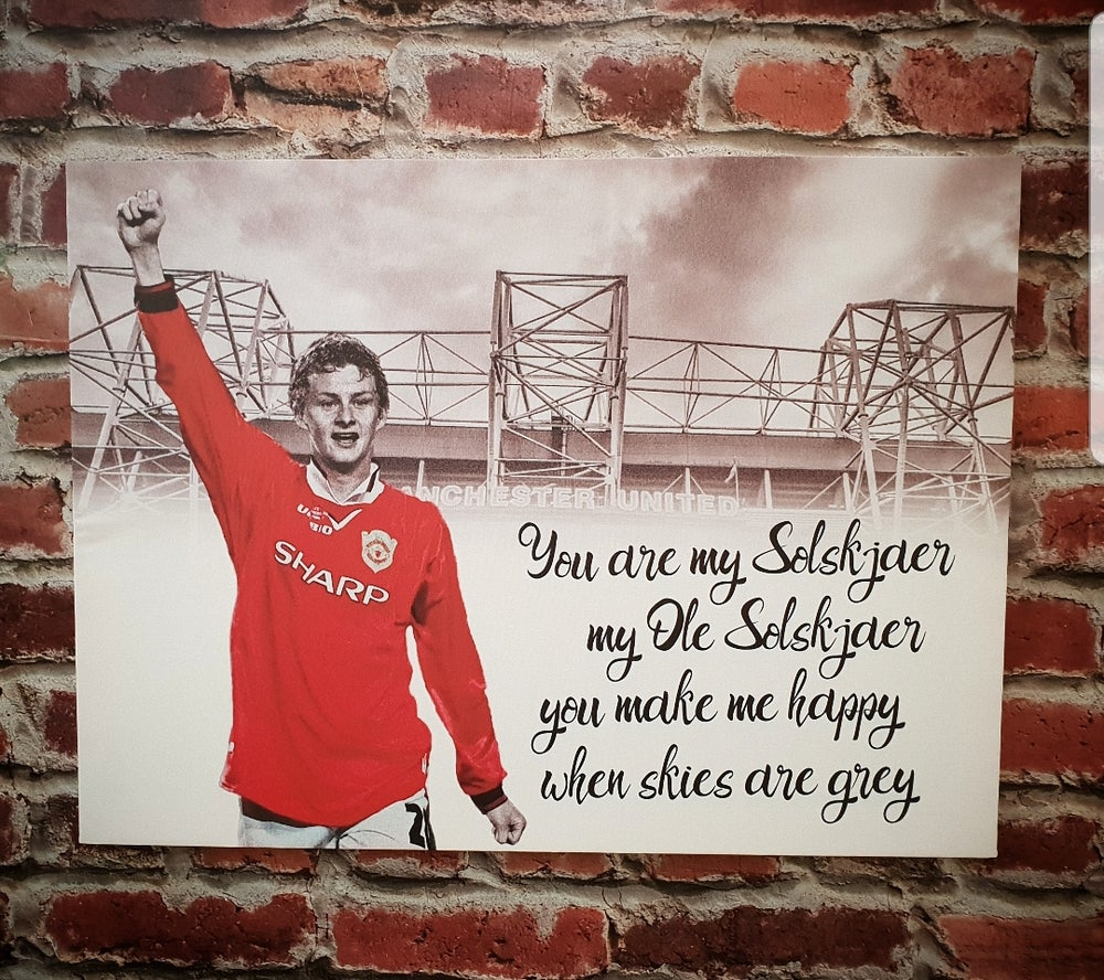 Image of Solskjaer canvas
