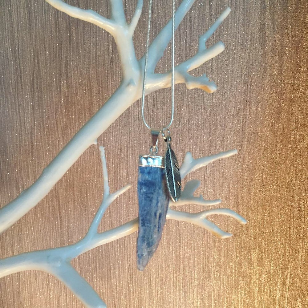 Image of Kyanite blade pendant