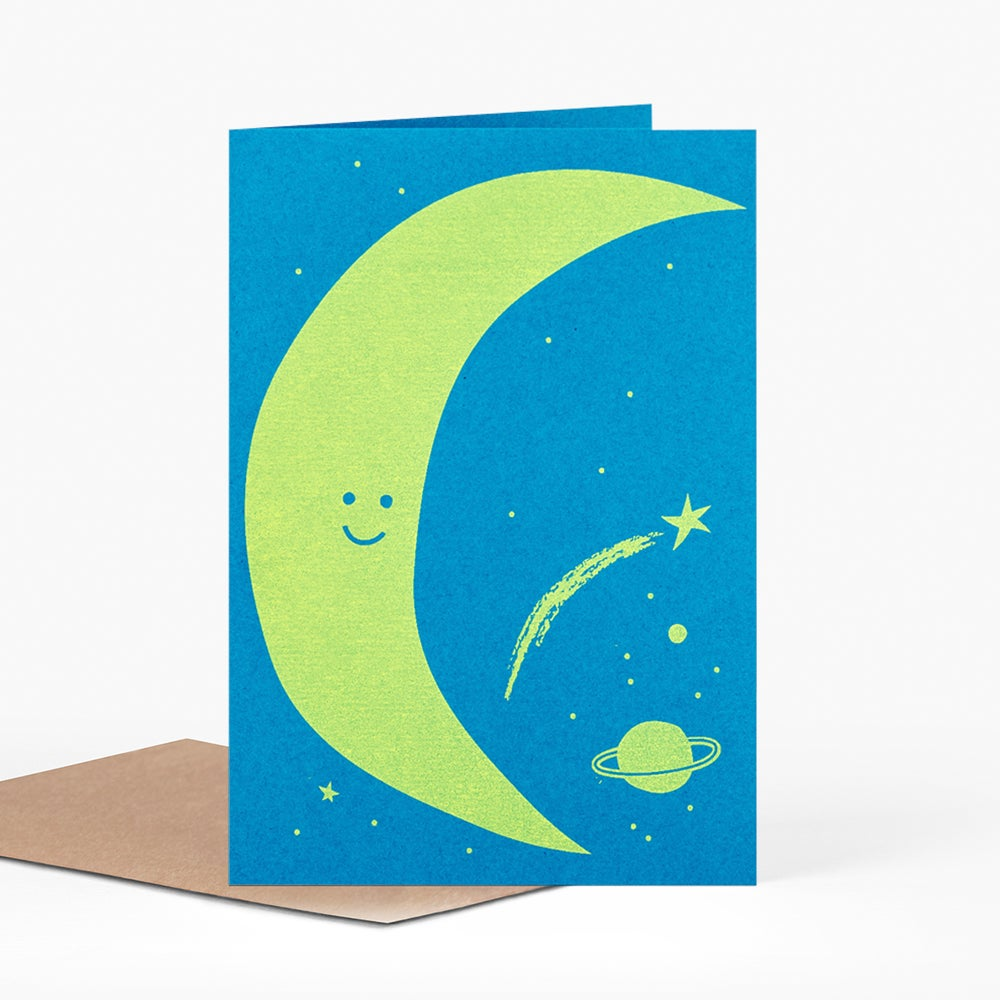 Image of Friendly Moon Card