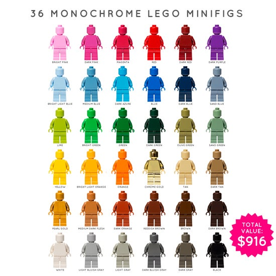 Image of SET OF 36 LEGO MONOFIGS