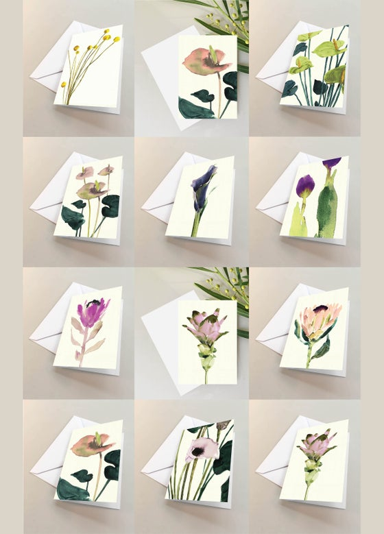 Image of 10 Small folded cards