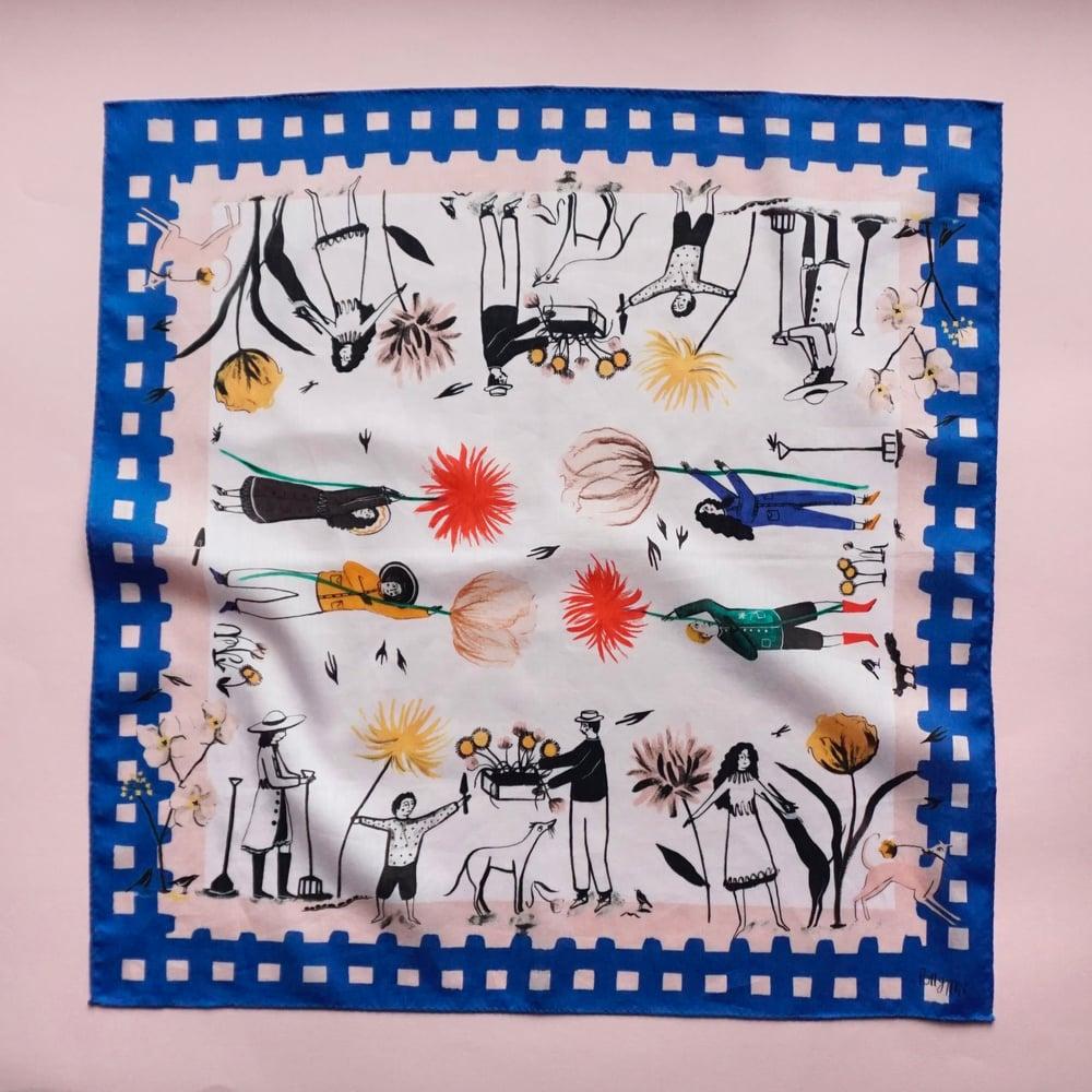 Image of Flower Pickers Cotton Handkerchief