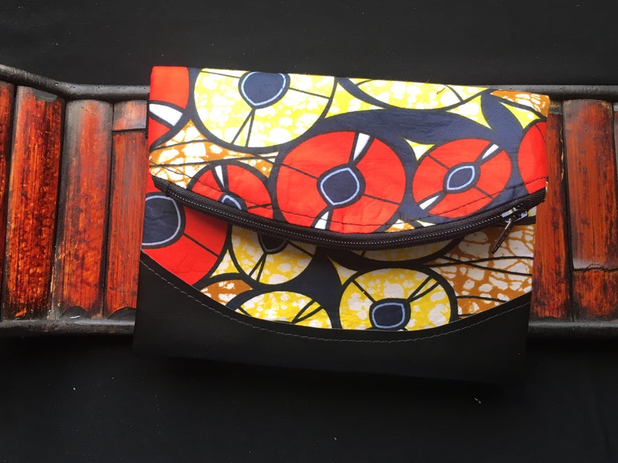 Image of Designs By IvoryB Fanny Pack Red Yellow Ankara African Print