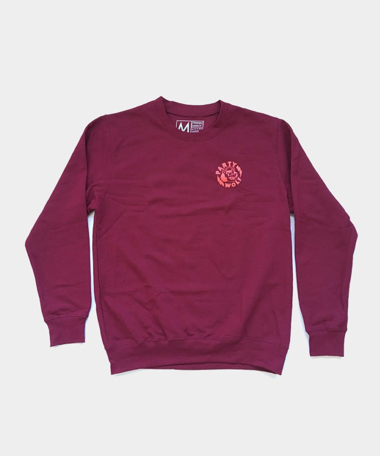 Image of Limited Party Wolf sweatshirt (Burgundy)