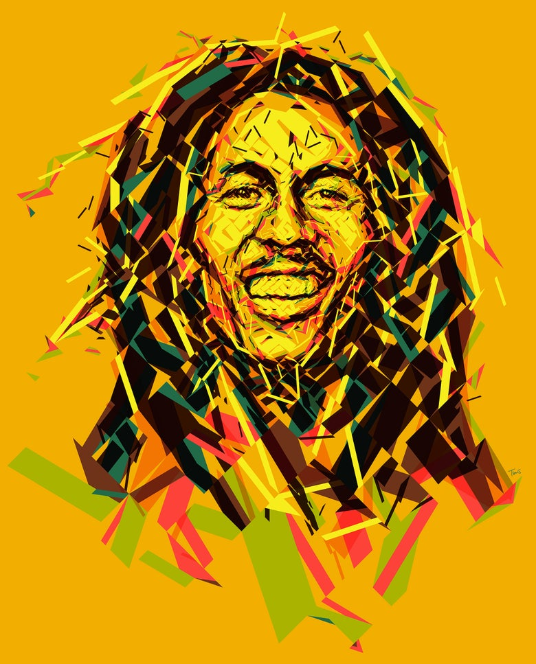 Image of Wake up and live - Bob Marley portrait (Limited edition fine art prints)