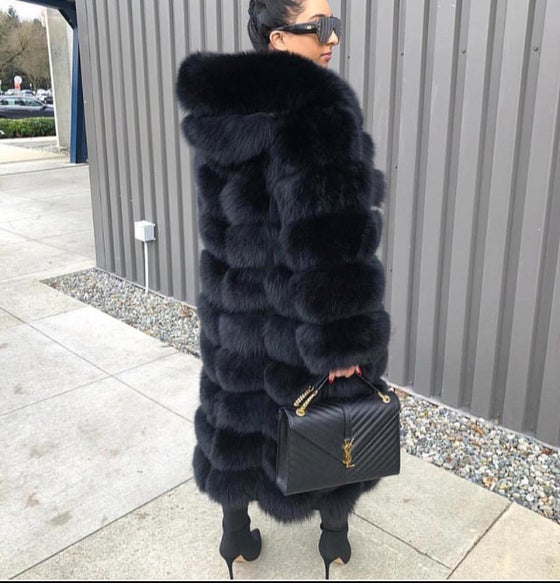 Image of Custom Fox Fur Coat (3 in 1)