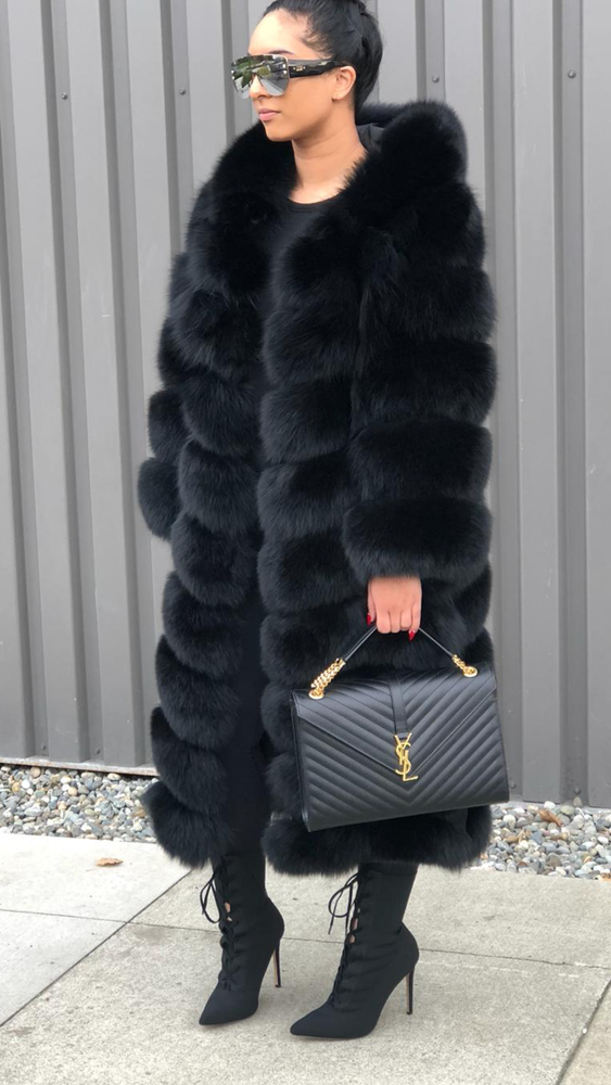 Image of Custom Fox Fur Coat