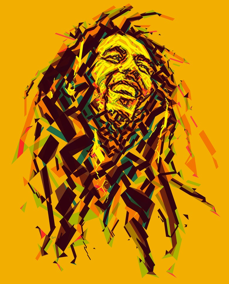 Image of Positive vibration - Bob Marley portrait (Limited edition fine art prints)