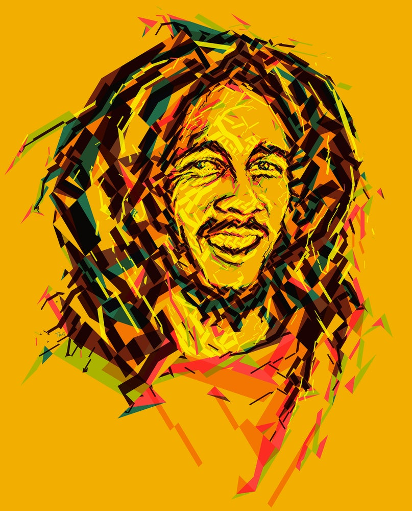 Image of When you see Jah light...- Bob Marley portrait (Limited edition fine art prints)