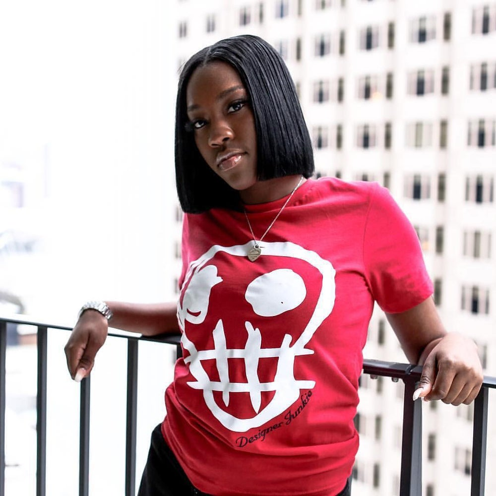 Image of Designer Junkie Apparel Signature Tee ( Red )