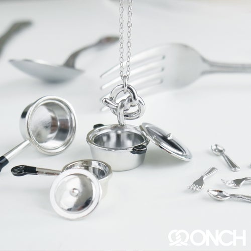 Image of ONCH Pretzel charm necklace