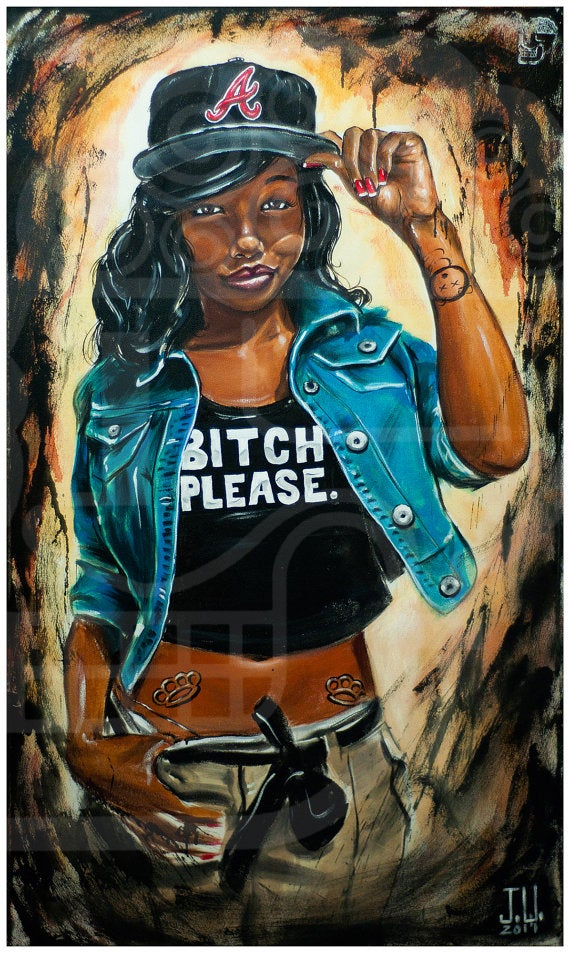 Image of JEREMY WORST Bitch Please Original Artwork Signed Print poster