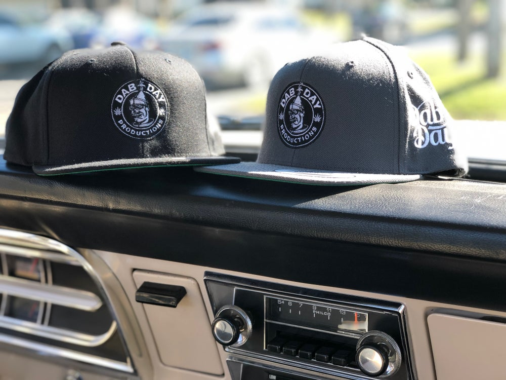 Image of Dab Day Productions Logo GREY Hat