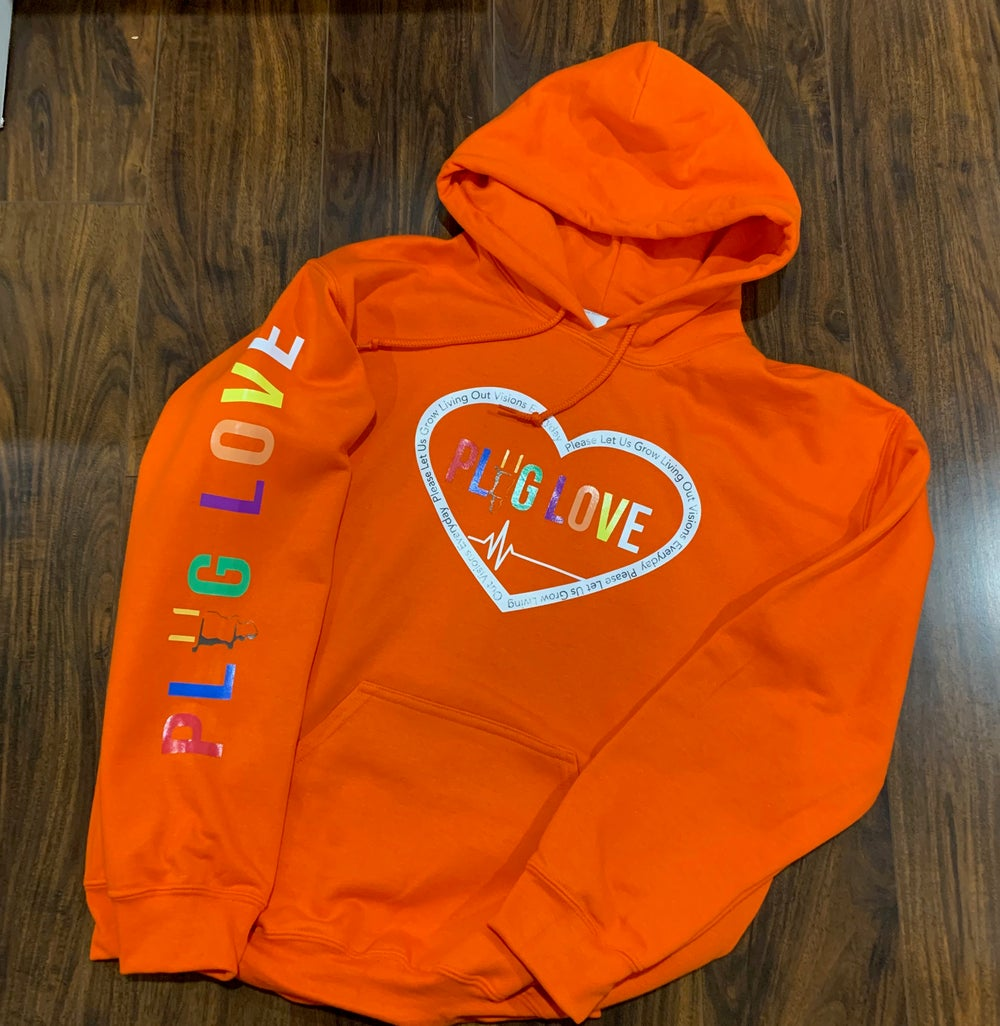 Image Of Orange Plug Love Pullover