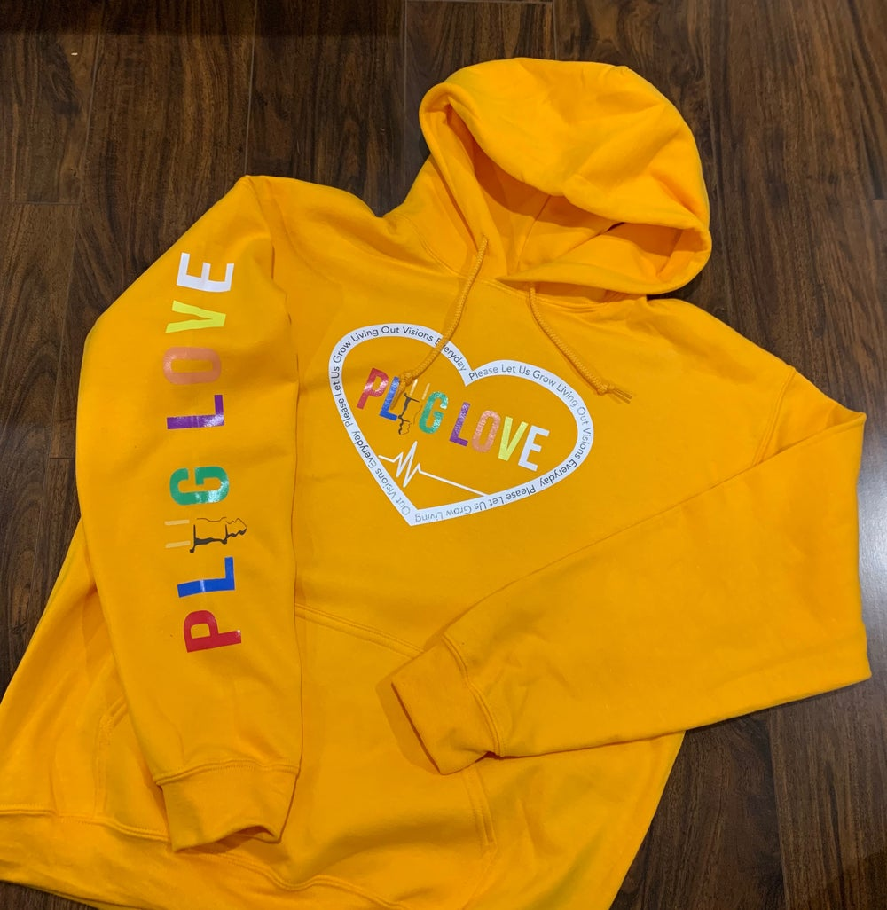 Image Of Yellow Plug Love Pullover