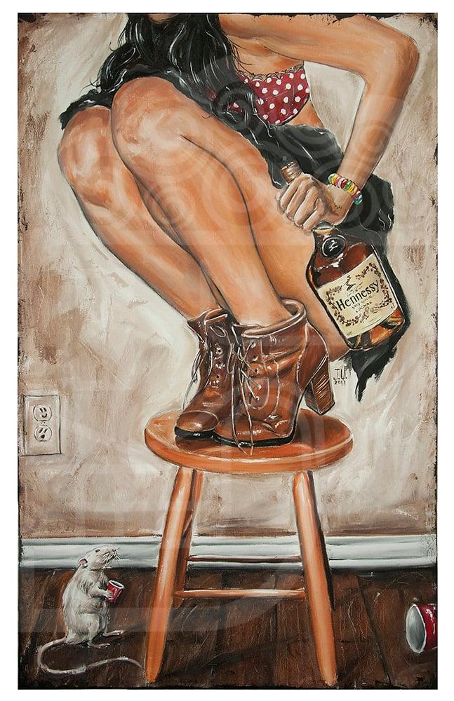 Image of JEREMY WORST Rats its Henny Original Artwork Signed Fine art Print Las Vegas