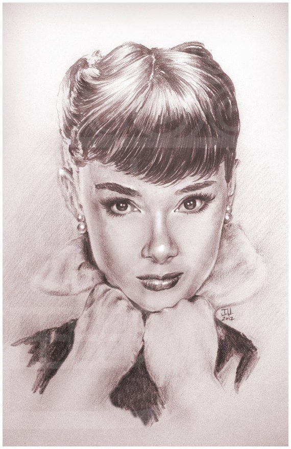 Image of JEREMY WORST Audrey Hepburn Arcade Sexy girl Artwork Fine Art Print pin up