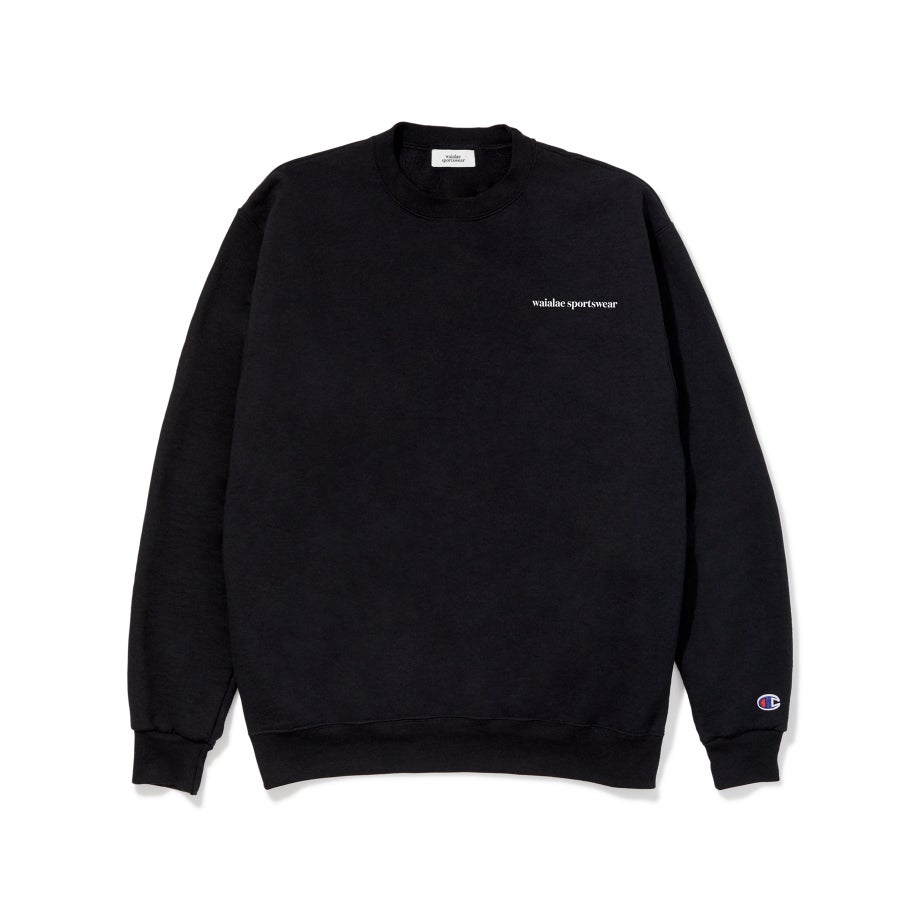Image of Chest Logo Crewneck (Black)