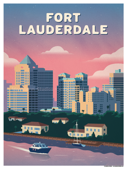 Image of Fort Lauderdale River Poster
