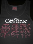 "Image of ""SIN"" TANK TOP BLACK"