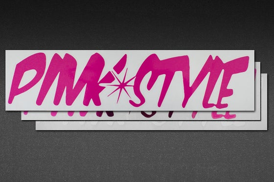 Image of PINK STYLE LARGE STICKER