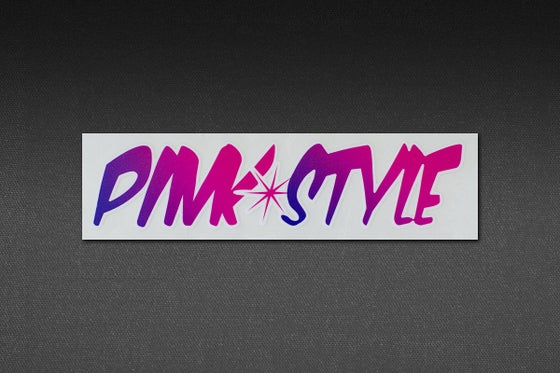 Image of PINK STYLE SMALL GRADIENT STICKER