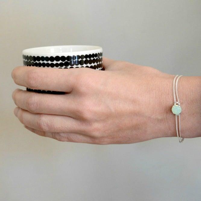 """Image of Bracelet Bleu Caraïbe en Argent """"CAB"""""""