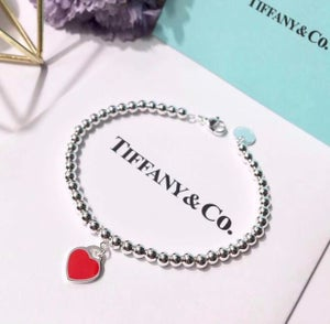 Image of LUX Bead Bracelet W/Heart Tag