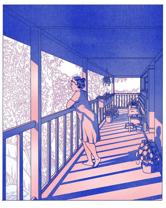 Image of Balcony Riso Print