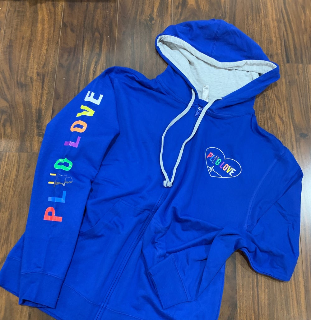 Image Of Blue Plug Love Zip Up