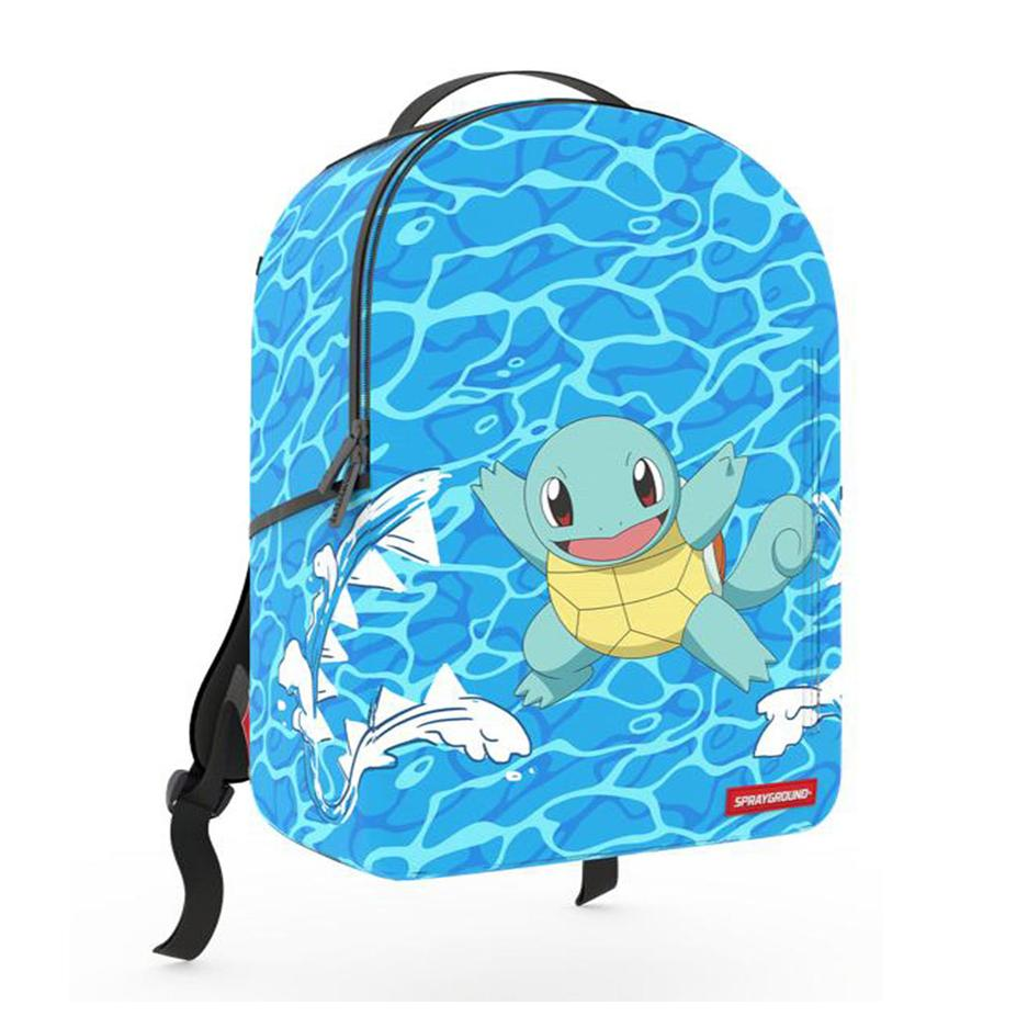 Image of Sprayground Pokémon Squirtle Unisex Synthetic Fabric Blue Backpack