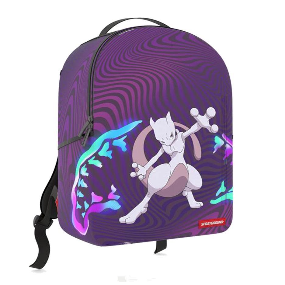 Image of Sprayground Pokémon Mew Two Unisex Synthetic Fabric Purple Backpack