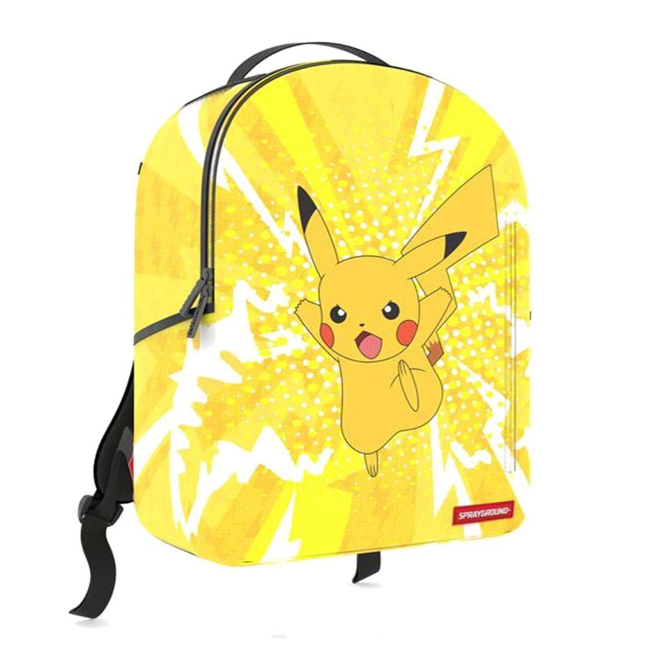 Image of Sprayground Pokémon Pikachu Unisex Synthetic Fabric Yellow Backpack