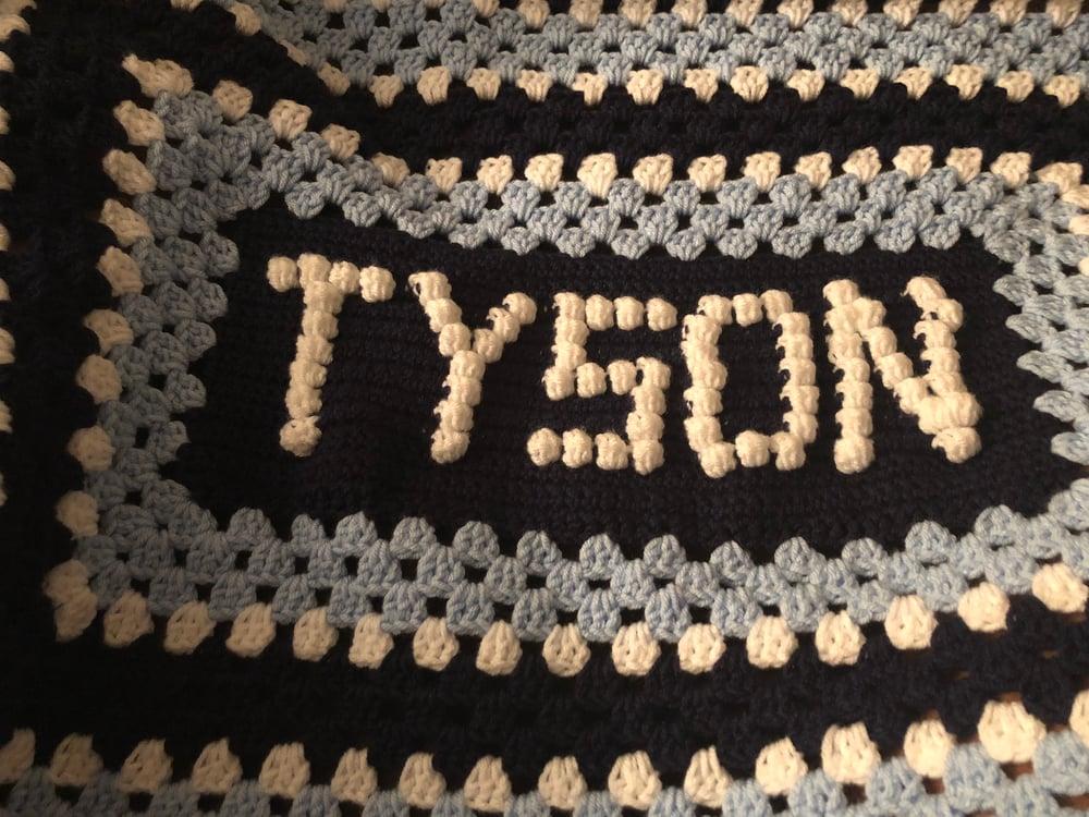 Name Baby Blanket Bobble Letters Crochet N Heidi
