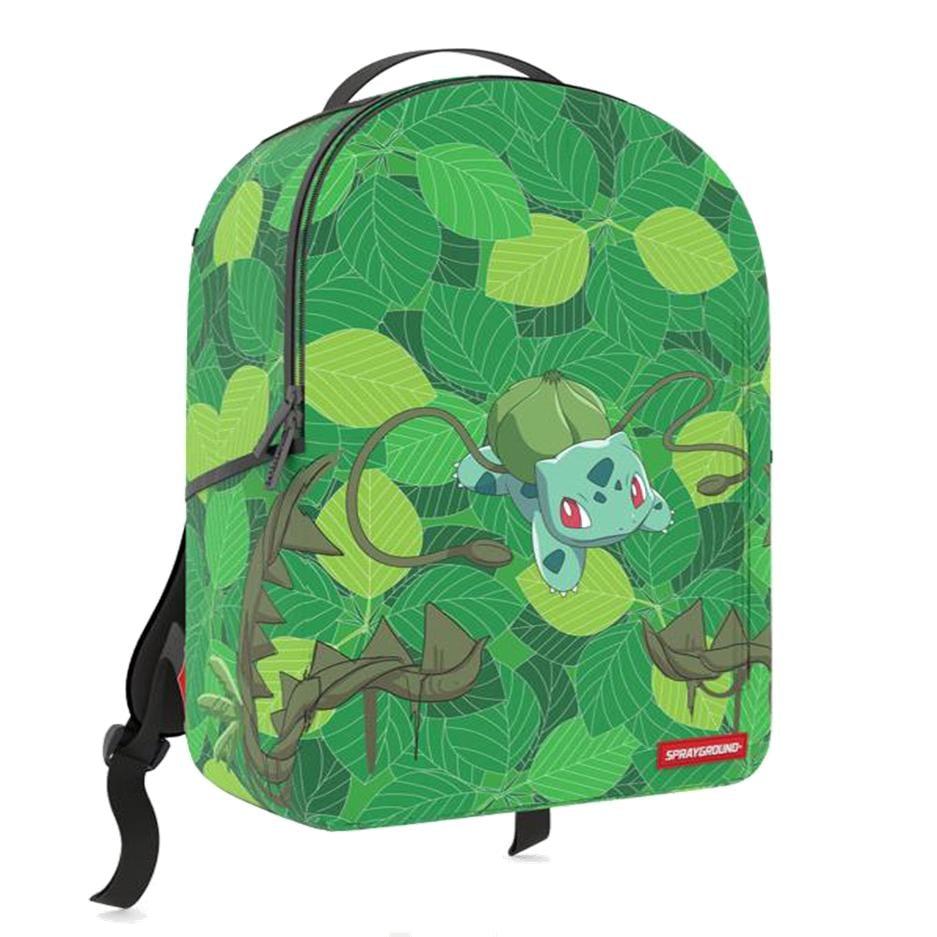 Image of Sprayground Pokémon Bulbasaur Unisex Synthetic Fabric Green Backpack